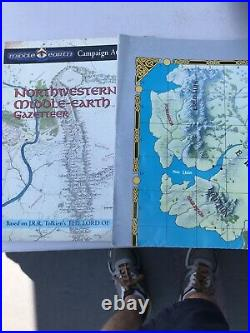 Vintage Rare Northwestern Middle Earth Gazeteer Campaign Atlas Lord Of The Rings