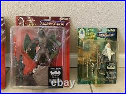 Vintage Set 8 Toy Vault Middle Earth Toys Lord of the Rings Action Figures