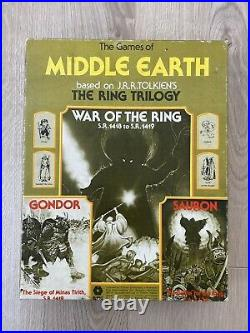 WAR OF THE RING RARE VINTAGE MIDDLE EARTH, LORD of RINGS Board Game 1977
