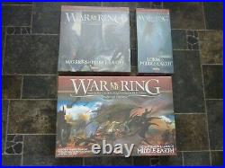 War Of The Ring Board Game + Lords + Warriors Middle Earth Expansions NEW