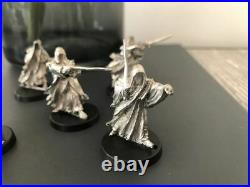 Warhammer LOTR Middle Earth Ringwraiths Nazgul Metal X 8 Witch King