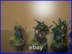 Warhammer Lotr Middle Earth 12 x Rangers of Gondor with Anborn and Mablung