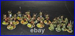 Warhammer lotr Middle Earth 12 Riders of Rohan and 12 Warriors of Rohan painted