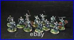Warhammer lotr Middle Earth 12 Warriors of Minas Tirith painted Gondor