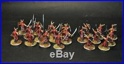 Warhammer lotr Middle Earth 20 plastic Easterling Warriors painted Easterlings