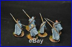 Warhammer lotr Middle Earth 6 Grey Company Rangers painted