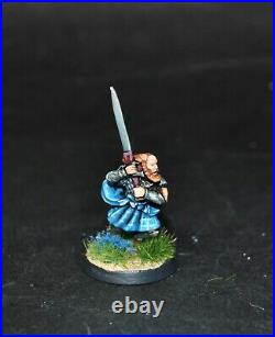 Warhammer lotr Middle Earth Angbor and 12 Clansmen of Lamedon painted