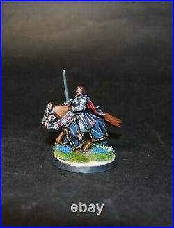 Warhammer lotr Middle Earth Aragorn King of Gondor foot and mounted painted