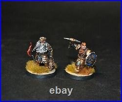 Warhammer lotr Middle Earth Dain Ironfoot and Thorin III Stonehelm painted