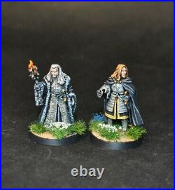 Warhammer lotr Middle Earth Denethor and Irolas painted Gondor Minas Tirith