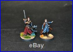 Warhammer lotr Middle Earth Elrond and Lindir lords of Rivendell painted