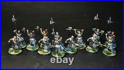 Warhammer lotr Middle Earth Forlong and 12 Axemen of Lossarnach painted Fiefdoms