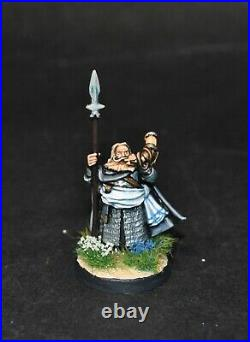 Warhammer lotr Middle Earth Forlong the Fat and 12 Axemen of Lossarnach painted