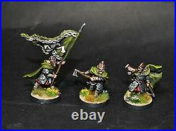 Warhammer lotr Middle Earth Grimbold and Helmingas command painted Rohan