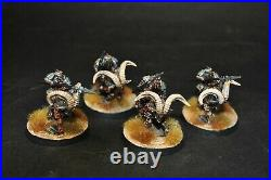 Warhammer lotr Middle Earth Iron Hills 4 Goat Riders painted Forgeworld