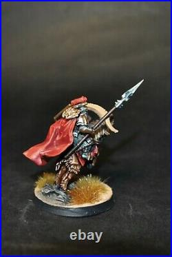 Warhammer lotr Middle Earth Iron Hills Dwarf Captain on Goat painted