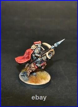 Warhammer lotr Middle Earth Iron Hills Dwarf Captain on Goat painted A
