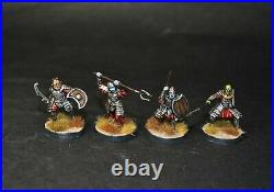 Warhammer lotr Middle Earth Morannon Orcs warband with command painted Mordor