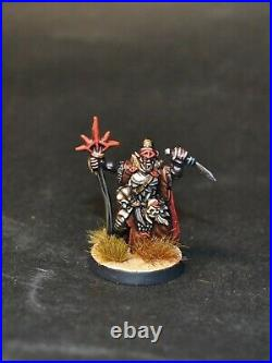 Warhammer lotr Middle Earth Orc Shaman on foot and on Warg Mordor