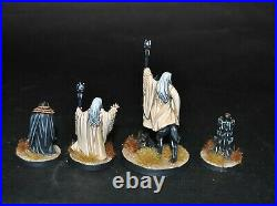 Warhammer lotr Middle Earth Saruman and Grima painted Isengard