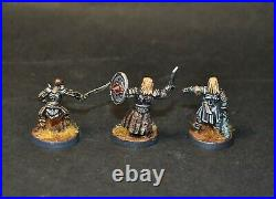 Warhammer lotr Middle Earth Shagrat and Gorbag painted 3 metal figures Mordor