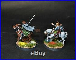 Warhammer lotr Middle Earth The Three Hunters on foot and mounted painted